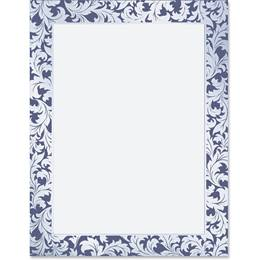 Festive Blue Specialty Border Papers