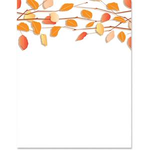 Autumn Twigs Specialty Border Papers