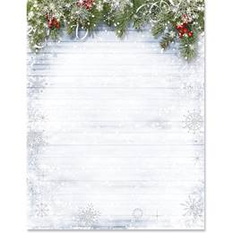 Snowy Sentiment Specialty Border Paper