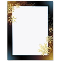 Snowflake Flurry Specialty Border Papers