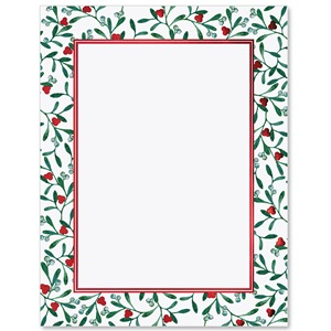 Mistletoe Sparkle Specialty Border Papers