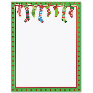 Whimsical Stockings Specialty Border Papers