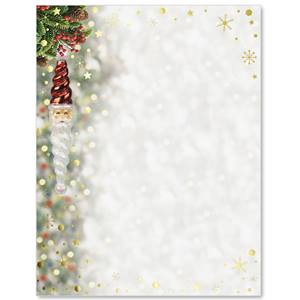 Santa Ornament Specialty Border Papers