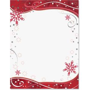 Snowflake Shimmer Specialty Border Papers