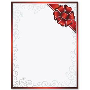 Red Ribbon Delight Specialty Border Papers