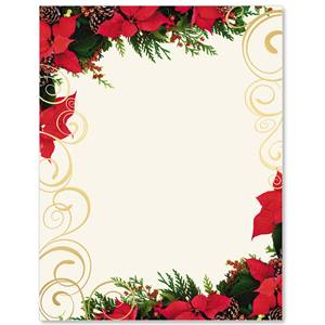 Poinsettia Swirl Specialty Border Papers Paperdirect S