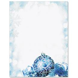 Electric Blue Specialty Border Papers