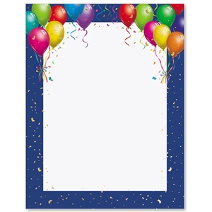 Happy Balloons Specialty Border Papers