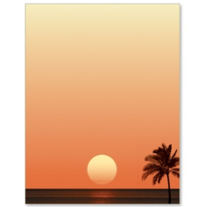 Tropical Sunset Border Papers