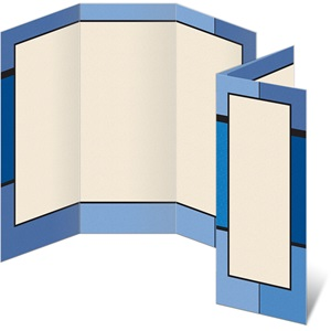 Blue Mondrian 3-Panel Brochures
