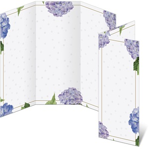 Hydrangeas and Dots 3-Panel Brochures