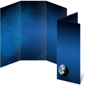 World Wide Dark Blue 3-Panel Brochures