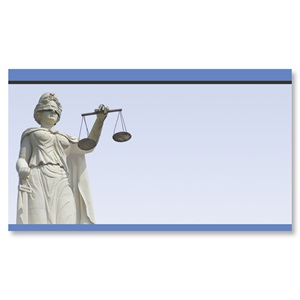 Blind Justice Scales Light Blue Business Cards