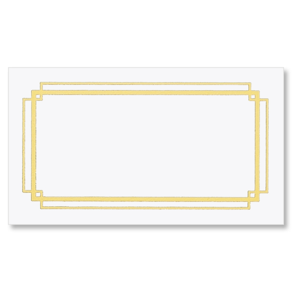 photograph about On the Border Printable Coupons titled Border Gold Foil Small business Playing cards PaperDirects