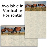 Horses In Field Business Cards