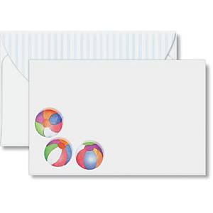 Beach Balls Crescent Envelopes