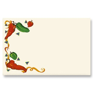 Chili Pepper Party Crescent Envelopes