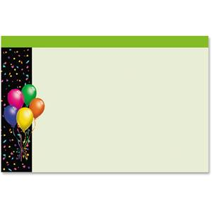 Balloons Confetti Crescent Envelopes