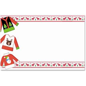 Ugly Christmas Sweater Crescent Envelopes