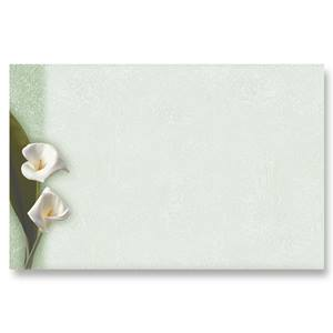 Calla Lilies Crescent Envelopes