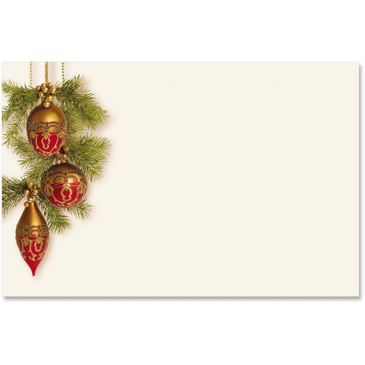 Baroque Christmas Crescent Envelopes   PaperDirect\'s