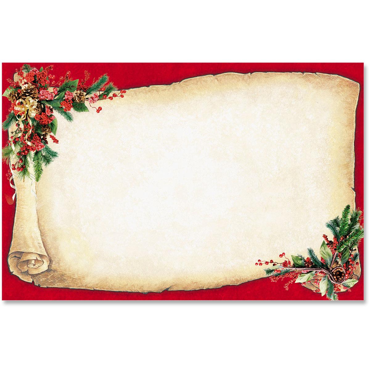 christmas scroll crescent envelopes paperdirect s