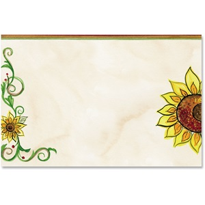 Tuscan Sunflowers Crescent Envelopes