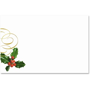 Holly Swirls Crescent Envelopes
