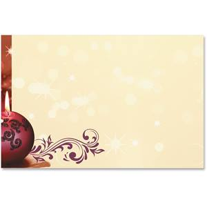 Cranberry Lights Crescent Envelopes