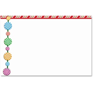 Peppermint Stripes Crescent Envelopes