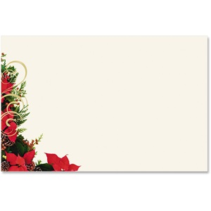 Poinsettia Swirl Crescent Envelopes