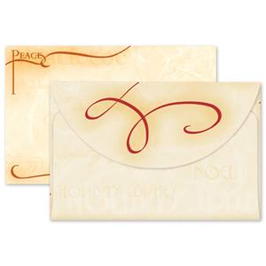 Peace and Joy Crescent Envelopes