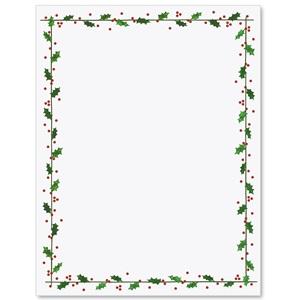 holly border letterhead paperdirect s