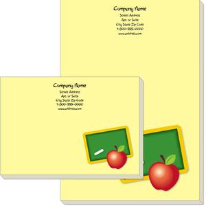 Teacher's Apple Post-it Notes