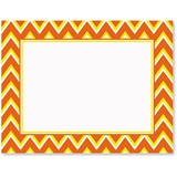 Candy Corn Chevron Postcards