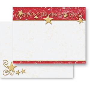 Gilded Stars Holiday Postcards
