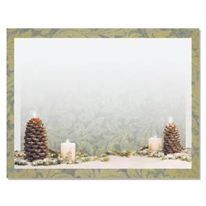 Pinecone Candles Postcards