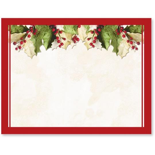 Christmas Postcards.Holly Christmas Postcards Paperdirect S