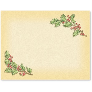 Vintage Holly Holiday Postcards