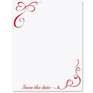 "Ribbon Of My Heart ""Save the Date"" Postcard Invitations"