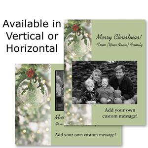 Crystal Brilliance Holiday Photo Postcards
