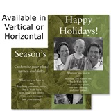 Dark Olive Holiday Photo Postcards