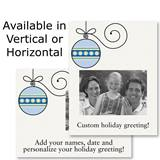 Graphic Ornament Holiday Photo Postcards