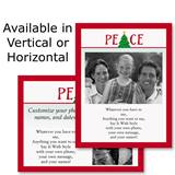 Peace Holiday Photo Postcards