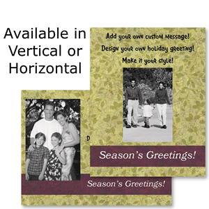 Plum and Green Holiday Photo Postcards