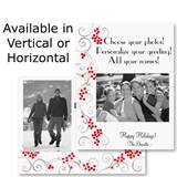 Silver Scroll Holiday Photo Postcards
