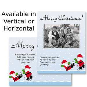 Ice Skating Party Holiday Photo Postcards