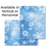 Graphic Snowflakes Photo Postcards
