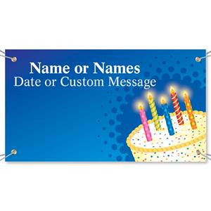 Cake with Candles Vinyl Banners