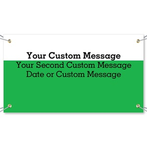 Green White Vinyl Banners